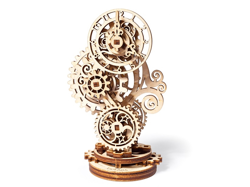 Ugears Steampunk Clock Mechanical Model kit