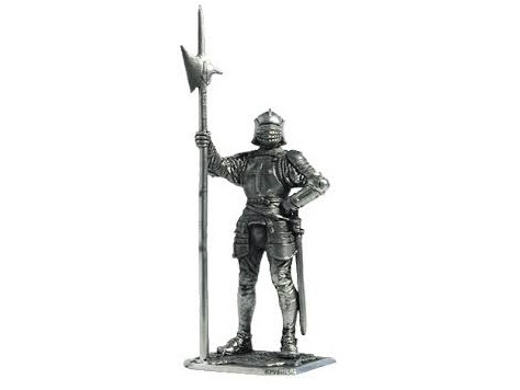 Фигура оловянная 54мм. Английский алебардщик, 1513 год M179