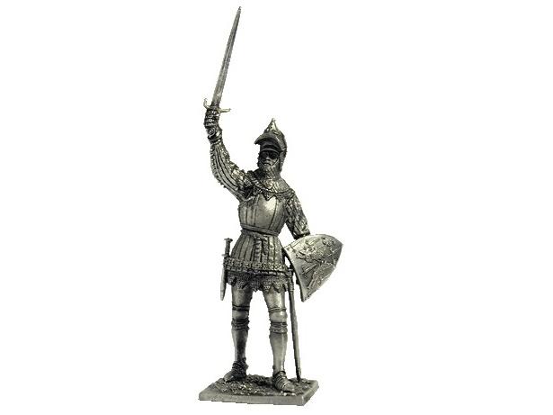 Фигура оловянная Французский рыцарь, 14в M141
