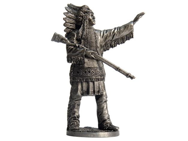 Фигура оловянная Индейский вождь WW-3