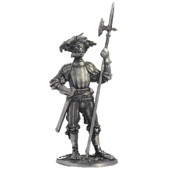 Фигура оловянная Капитан ландскнехтов, 1520г M9