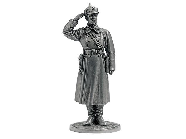 Фигура оловянная Лейтенант пехоты РККА. 1941 г. СССР WWII-37