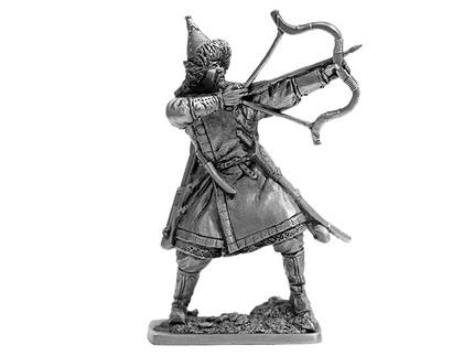 Фигура оловянная Монгольский лучник, 13 век Horde02