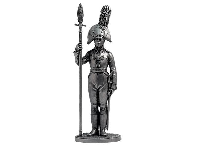 Фигура оловянная Обер-офицер Орловского мушкетерского полка. Россия, 1804-06 гг. NAP65