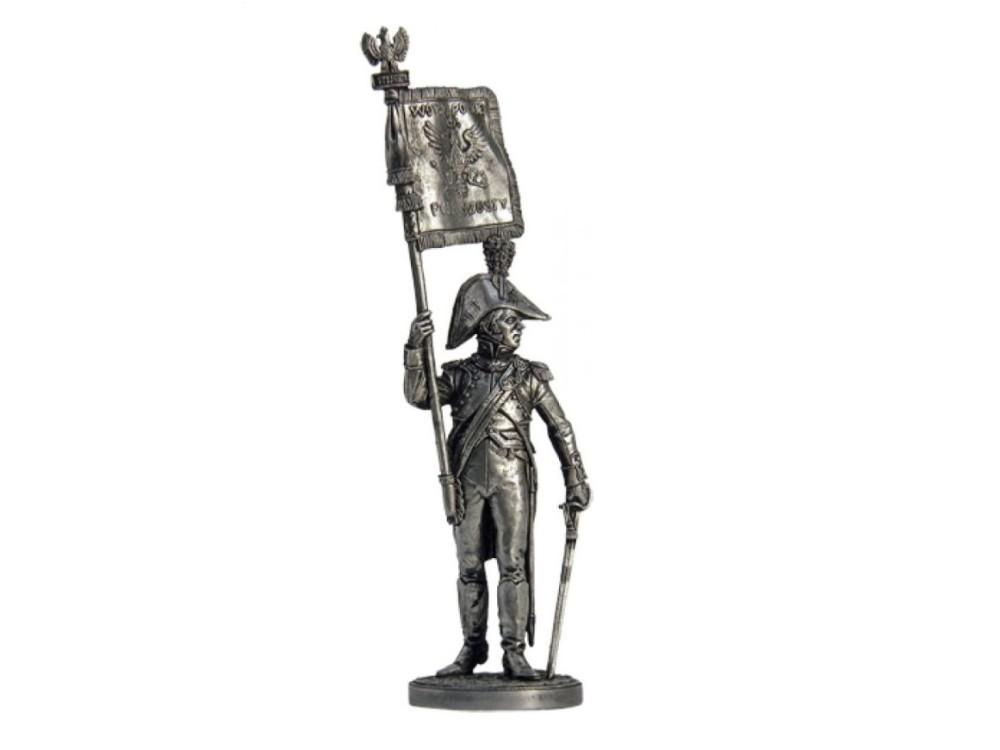 Фигура оловянная Офицер-орлоносец 6-го пехотного полка. Польша, 1810-14 NAP28