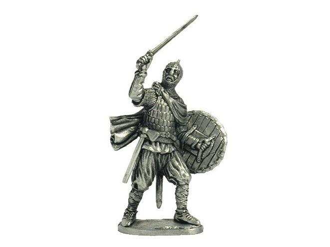 Фигура оловянная Русский богатырь, 10 в M22