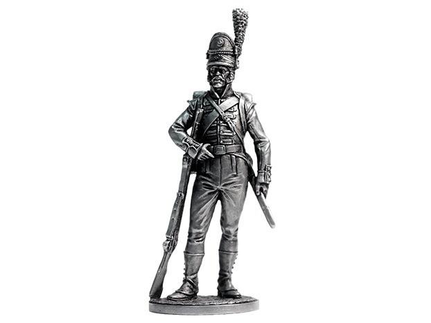 Фигура оловянная Рядовой 1-го батальона егерей (касадорес). Португалия, 1808-09 гг. NAP62