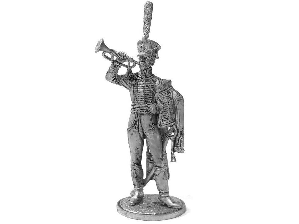 Фигура оловянная Штаб-трубач Сумского гусарского полка. Россия, 1810-14 гг. NAP74