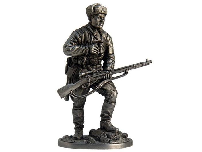 Фигура оловянная Снайпер 1047-го стрелкового полка Зайцев В., осень 1942 г. СССР WWII-3