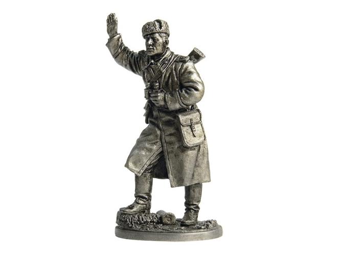 Фигура оловянная Старший сержант – артиллерист, командир орудия, 1943-45 гг. СССР WWII-12