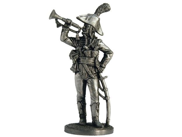 Фигура оловянная Трубач полка дромадеров. Франция, 1801-02 гг. NAP9
