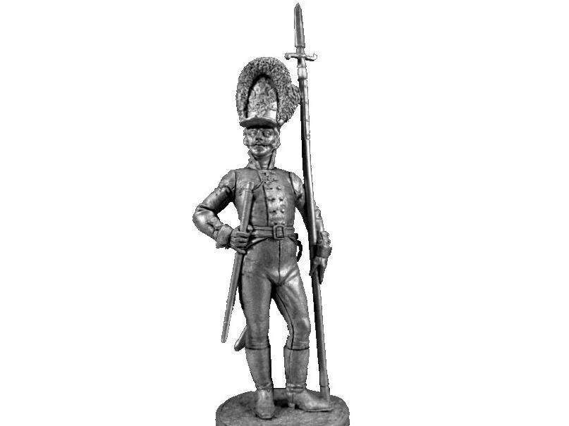 Фигура оловянная Унтер-офицер Лейб-гвардии Преображенского полка. Россия, 1802-06 гг NAP54