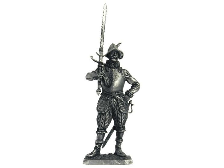 Фигура оловянная Европейский солдат, 16 век M107
