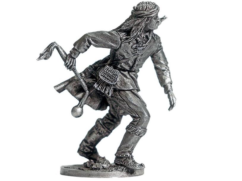 Фигура оловянная Индеец с булавой WW-20