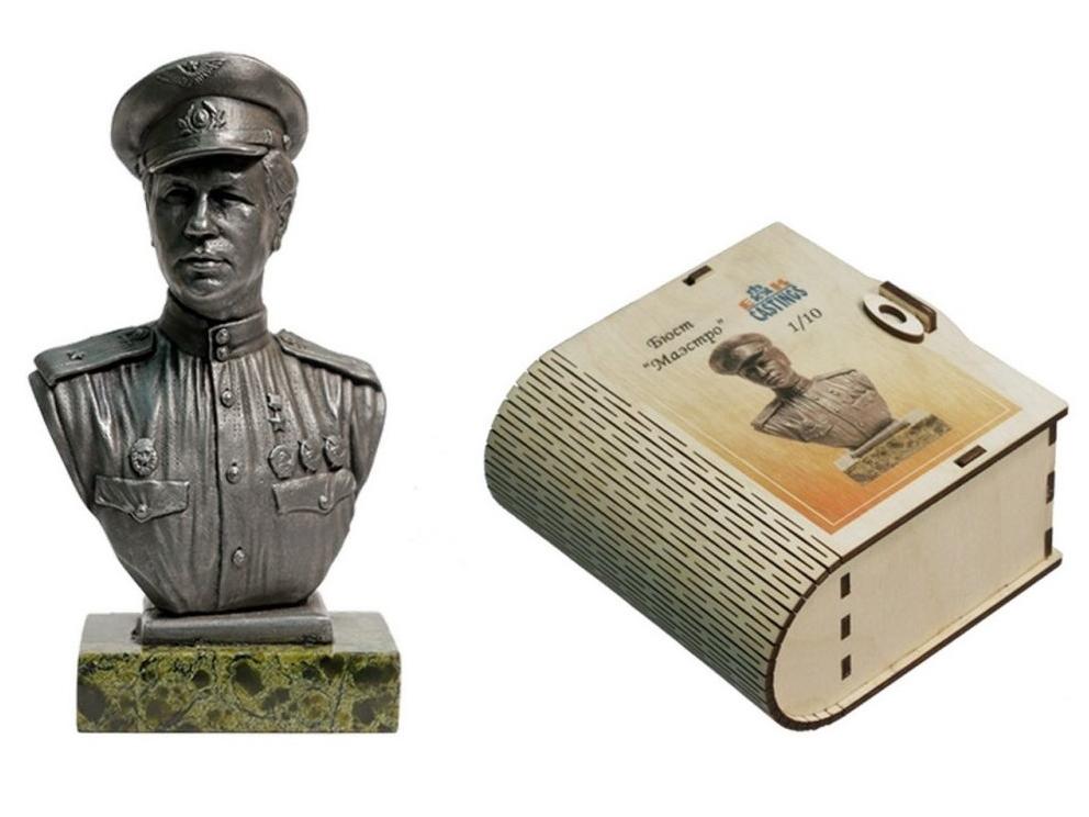 Фигура оловянная Маэстро (Леонид Быков) bustmet10-01
