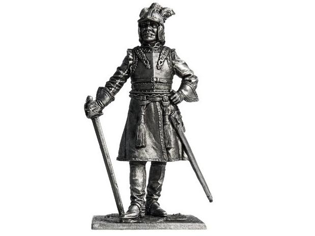 Фигура оловянная Офицер драгунских полков, 1698-1704гг. Россия R239