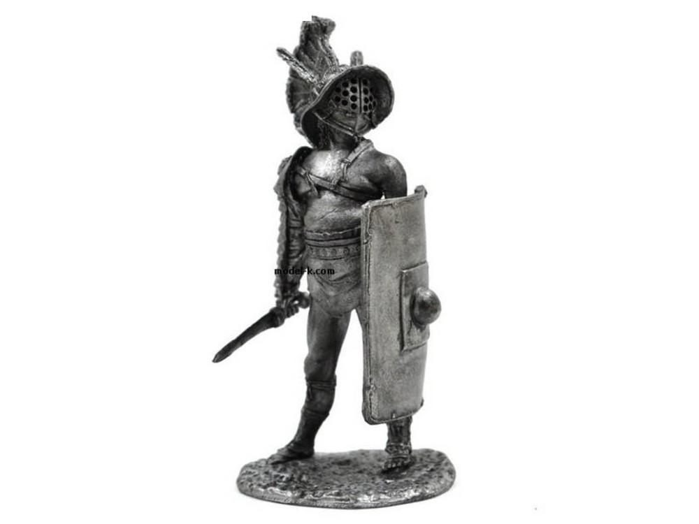 Фигура оловянная Римский гладиатор Мирмилон 54-7