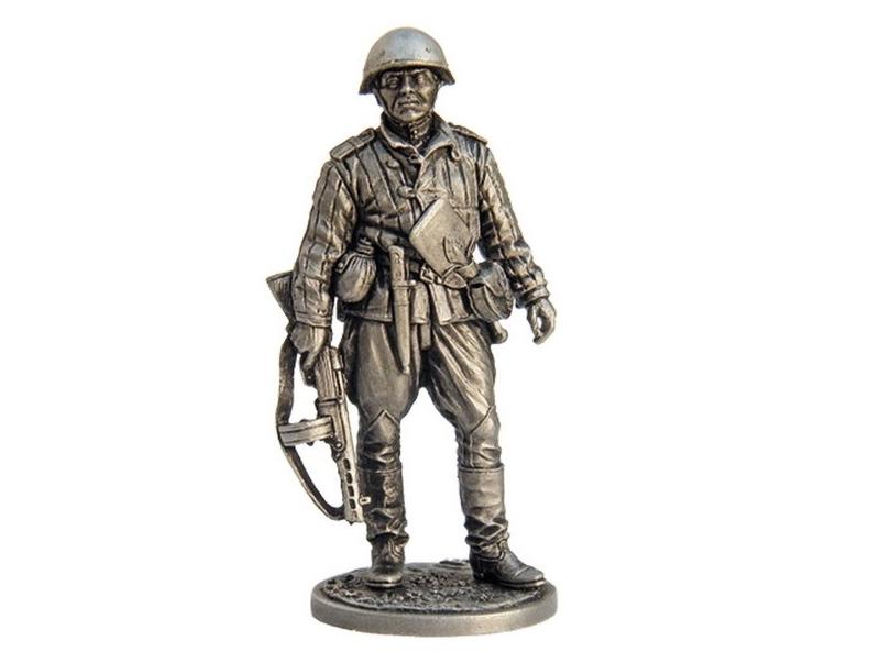Фигура оловянная Старший сержант пехоты Красной армии, 1943-45 гг. СССР WWII-1
