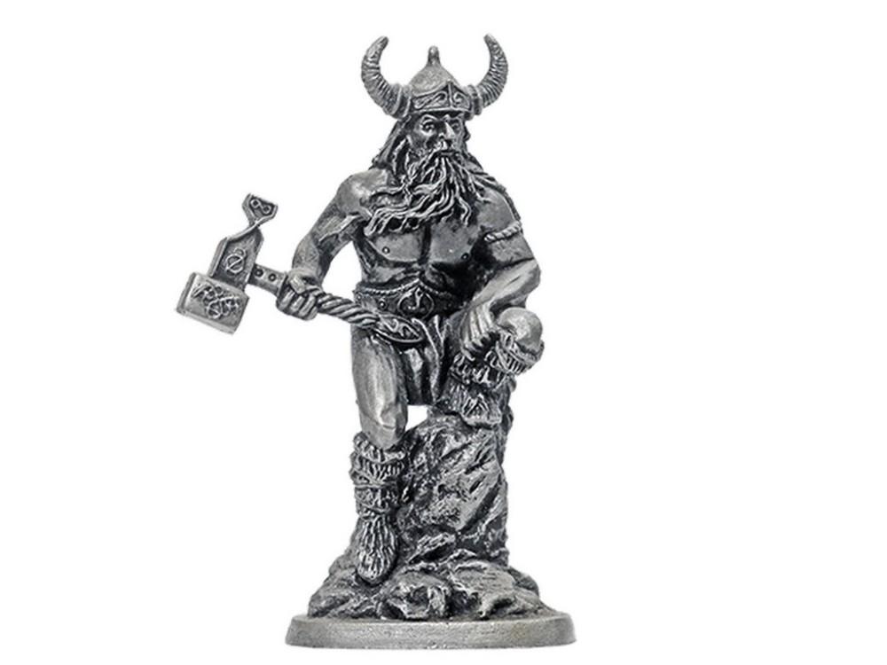 Фигура оловянная Тор, бог гром и бури H&-06